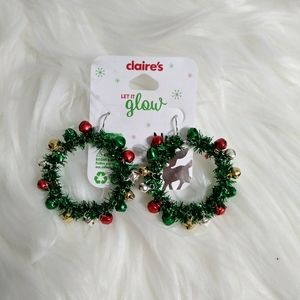 Christmas Reef Earrings with Real Jingle Bells